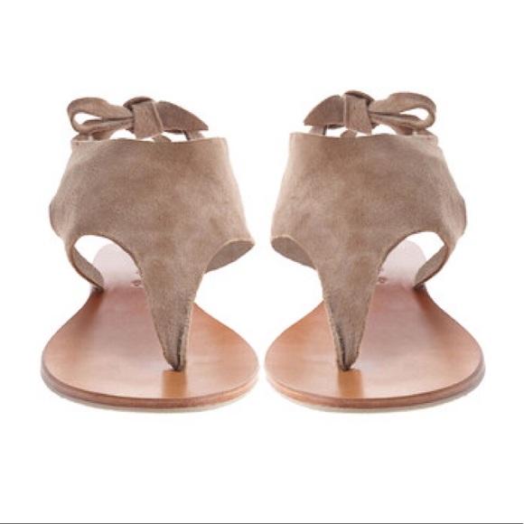55a8605c99f555 Cocobelle Shoes - Cocobelle Tye Suede Thong Sandals